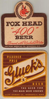 Fox Brewing Co., Waukesha, WI /  Gluek Brewing Co., Minneapolis, MN