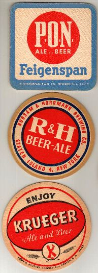 C. Feigenspan Brewing Co., Newark, NJ / Rubsam & Horrmann Brewing Co., Staten Island, NY / G. Krueger Brewing Co., Newark, NJ