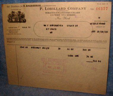 P. Lorillard Company, New York