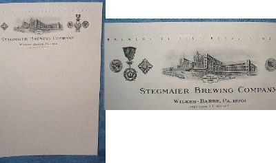 Stegmaier Brewing Co., Wilkes-Barre, PA – Letterhead